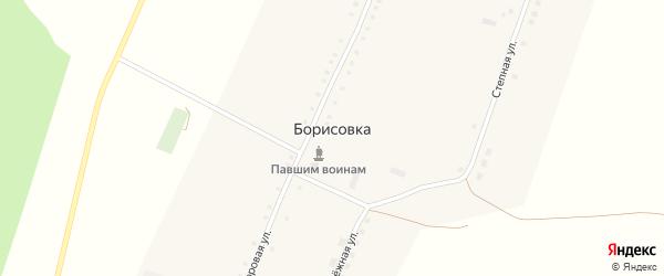 Приборовая улица на карте села Борисовки с номерами домов