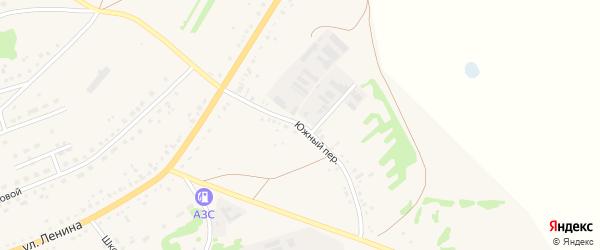 Южный переулок на карте села Родино с номерами домов