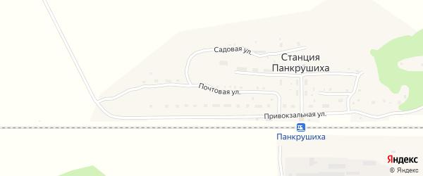 Почтовая улица на карте станции Панкрушихи с номерами домов
