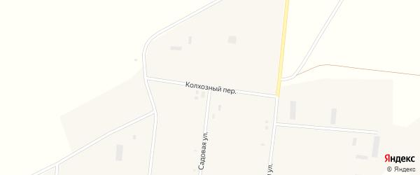 Колхозный переулок на карте села Глядени с номерами домов