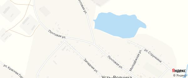 Почтовая улица на карте села Усть-Волчихи с номерами домов