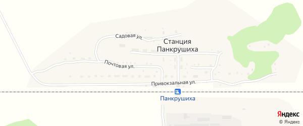 Школьный переулок на карте станции Панкрушихи с номерами домов