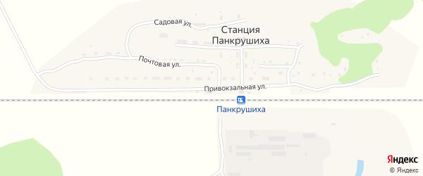 Привокзальная улица на карте станции Панкрушихи с номерами домов