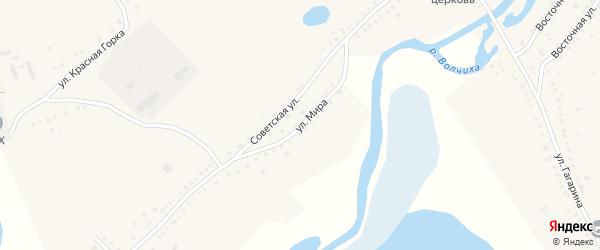 Улица Мира на карте села Усть-Волчихи с номерами домов