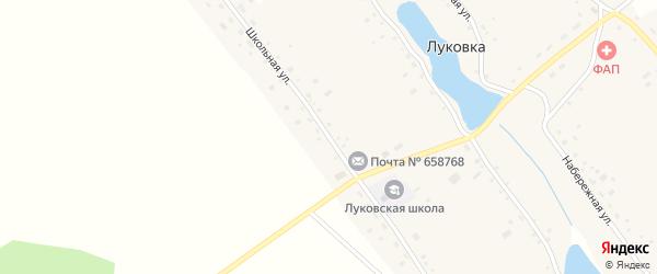 Школьная улица на карте села Луковки с номерами домов