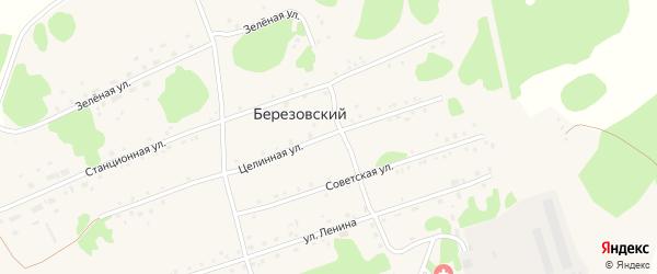 Переулок Гагарина на карте Березовского поселка с номерами домов