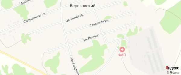 Улица Ленина на карте Березовского поселка с номерами домов