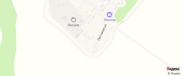 Песчаная улица на карте поселка Озерно-Кузнецовский Лесхоз с номерами домов
