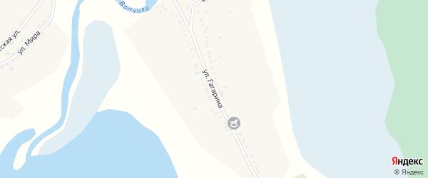 Улица Гагарина на карте села Усть-Волчихи с номерами домов