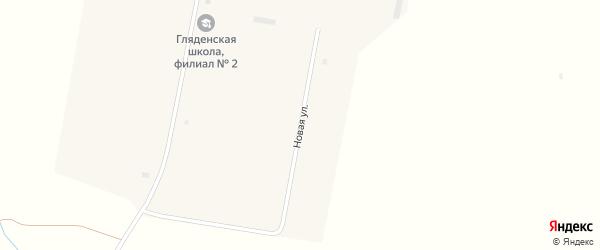 Новая улица на карте села Глядени-2 с номерами домов