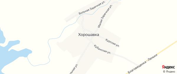 Карта поселка Хорошавки в Алтайском крае с улицами и номерами домов