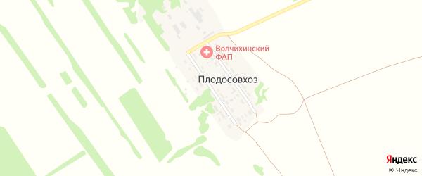 Молодёжная улица на карте поселка Плодосовхоза с номерами домов