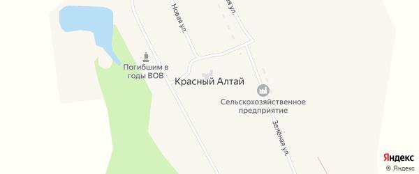 Зеленая улица на карте поселка Красного Алтая с номерами домов