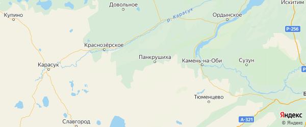 Карта Панкрушихинского района Алтайского края с городами и населенными пунктами