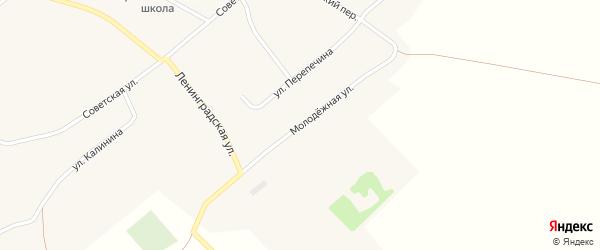Молодежная улица на карте села Верха-Пайвы с номерами домов