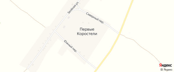 Северный переулок на карте села Первые Коростели с номерами домов