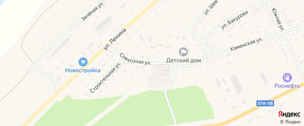 Совхозная улица на карте села Панкрушихи с номерами домов