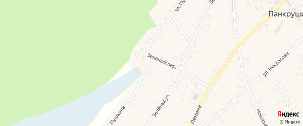 Улица Пушкина на карте села Панкрушихи с номерами домов