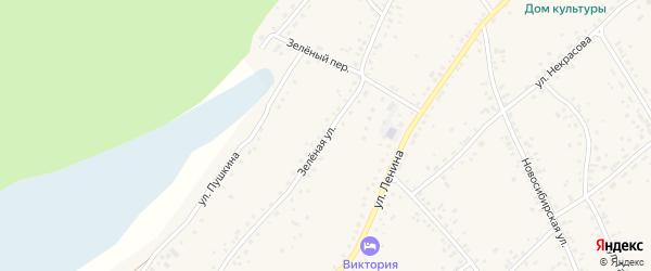 Зеленая улица на карте станции Панкрушихи с номерами домов
