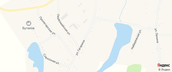 Улица Гагарина на карте села Зятьково с номерами домов