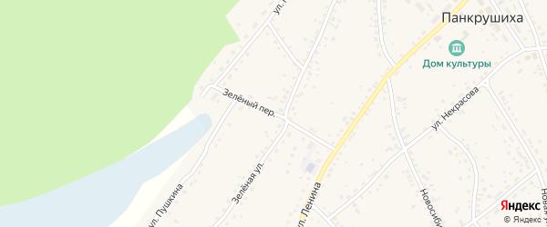 Зеленый переулок на карте села Панкрушихи с номерами домов