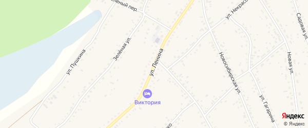 Улица Ленина на карте села Панкрушихи с номерами домов