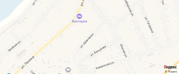 Улица Шевченко на карте села Панкрушихи с номерами домов
