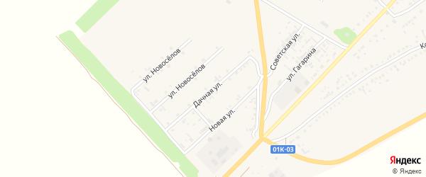 Дачная улица на карте села Волчихи с номерами домов