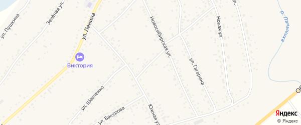 Новосибирский переулок на карте села Панкрушихи с номерами домов
