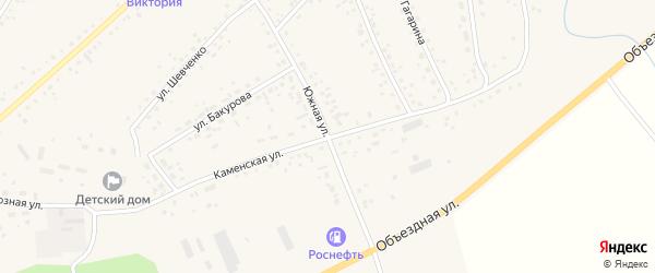 Каменская улица на карте села Панкрушихи с номерами домов