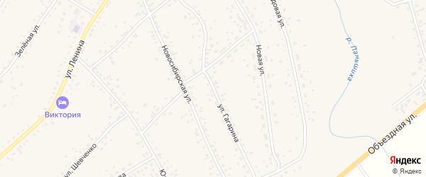 Улица Гагарина на карте села Панкрушихи с номерами домов