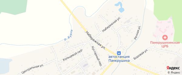Набережная улица на карте села Панкрушихи с номерами домов