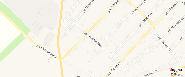 Улица Лермонтова на карте села Волчихи с номерами домов
