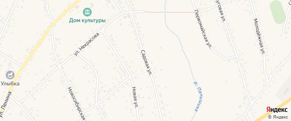 Садовая улица на карте станции Панкрушихи с номерами домов