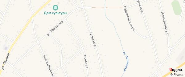 Садовая улица на карте села Панкрушихи с номерами домов