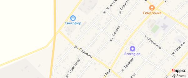 Улица Строителей на карте села Волчихи с номерами домов