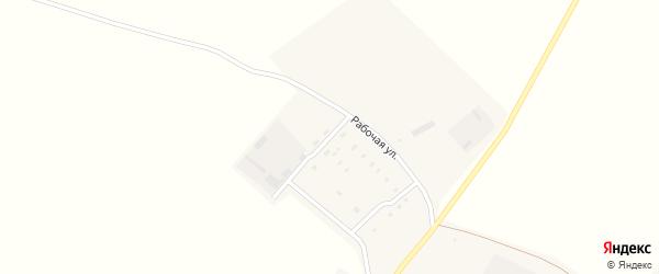 Рабочая улица на карте села Озерно-Кузнецово с номерами домов