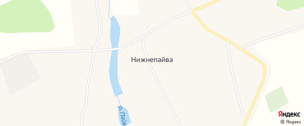 Почтовая улица на карте села Нижнепайвы с номерами домов