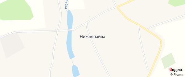 Улица Чапаева на карте села Нижнепайвы с номерами домов