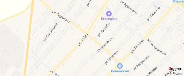 Улица Горького на карте села Волчихи с номерами домов
