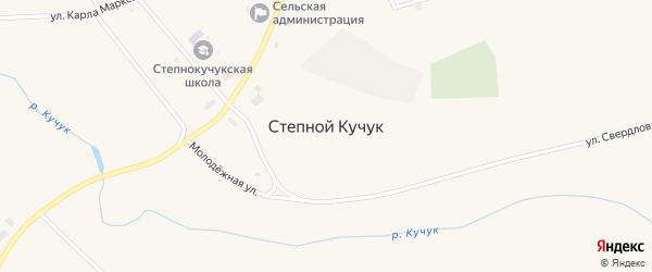 Комсомольская улица на карте села Степного Кучука с номерами домов