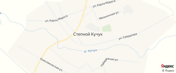 Карта села Степного Кучука в Алтайском крае с улицами и номерами домов