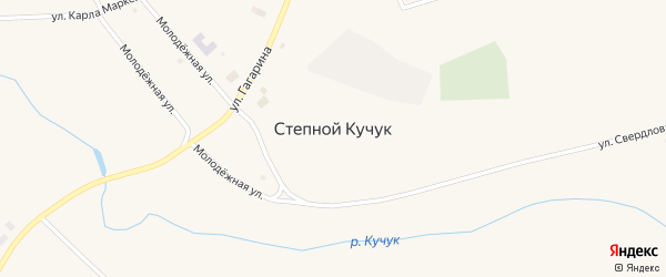 Улица Гагарина на карте села Степного Кучука с номерами домов
