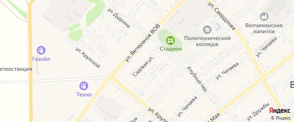 Садовая улица на карте села Волчихи с номерами домов