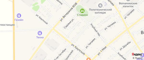 Молодёжная улица на карте села Волчихи с номерами домов