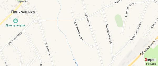 Первомайская улица на карте села Панкрушихи с номерами домов