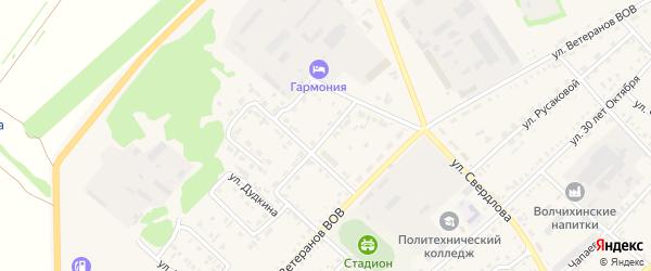 Улица Строителей на карте ЗАТА Сибирского поселка с номерами домов