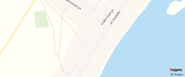 Советская улица на карте села Озерно-Кузнецово с номерами домов