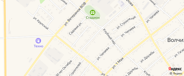 Улица 30 лет Октября на карте села Волчихи с номерами домов