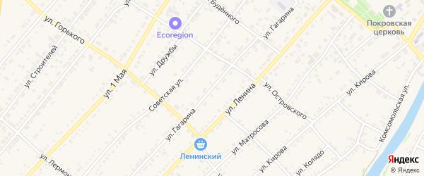 Улица Гагарина на карте села Волчихи с номерами домов